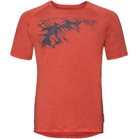 Odlo BL Concord T-shirt à col ras-du-cou Homme, paprika-mountain print ss19